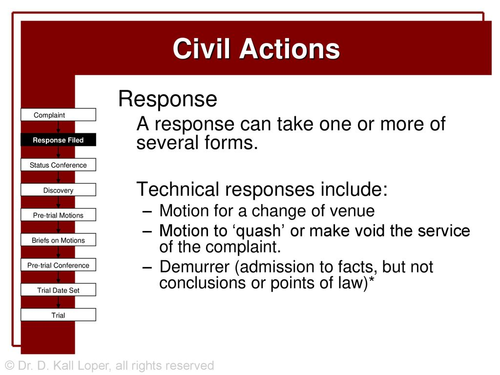Civil Actions and Discovery - ppt download