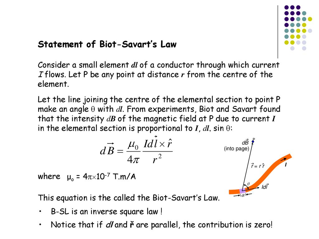 Lecture 10 Biot-Savart's Law  - ppt download