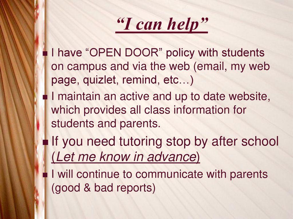 Open Door Policy Quizlet