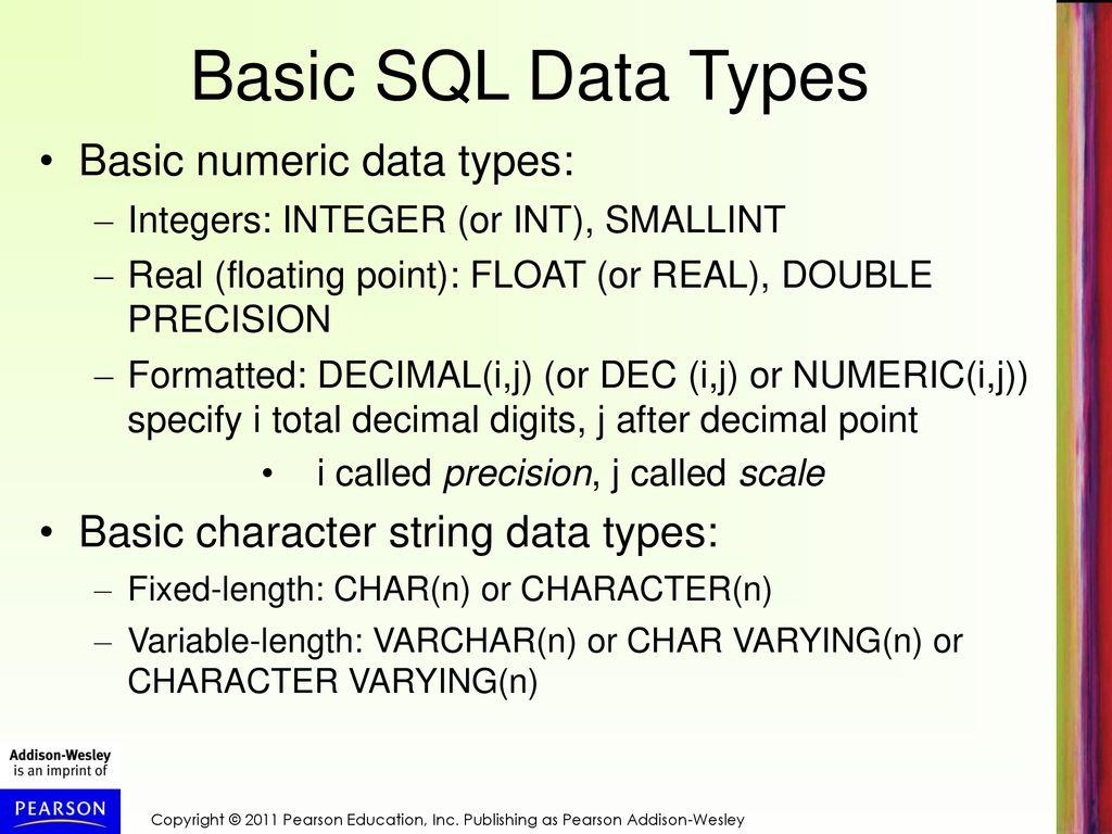 Chapter 4 Basic SQL  Chapter 4 Basic SQL Chapter 4 Outline