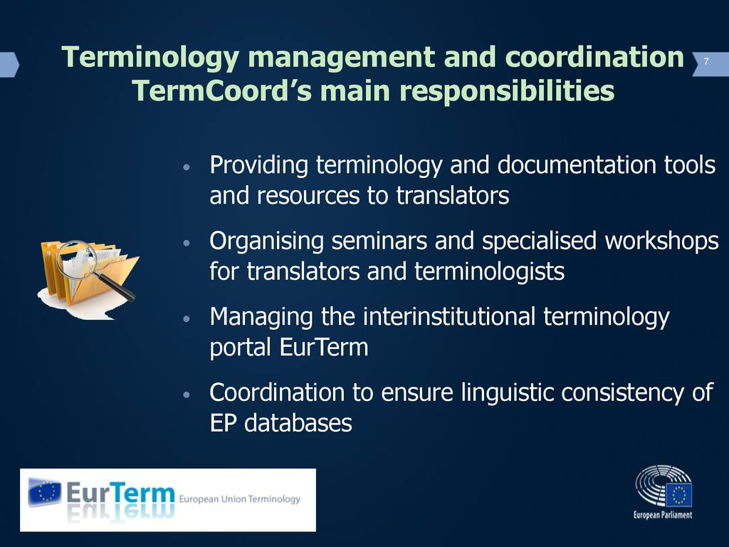 Terminology In The European Parliament Ppt Download