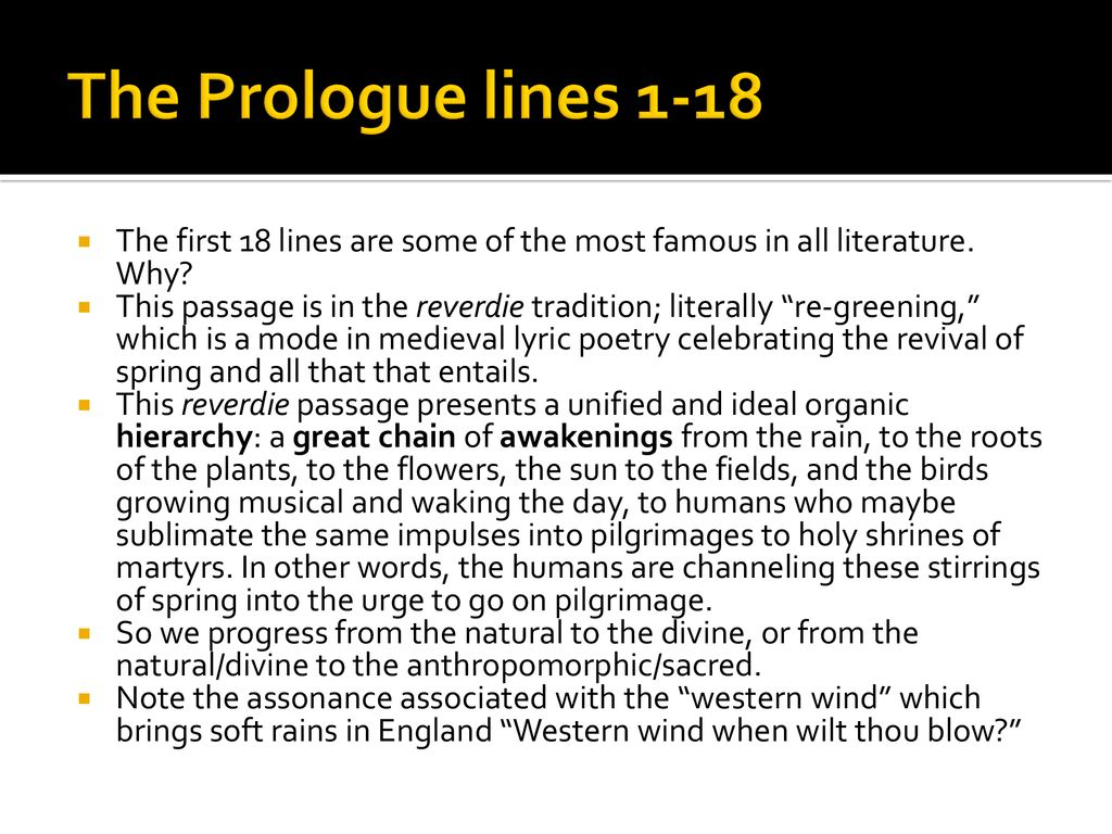 canterbury tales prologue middle english first 18 lines