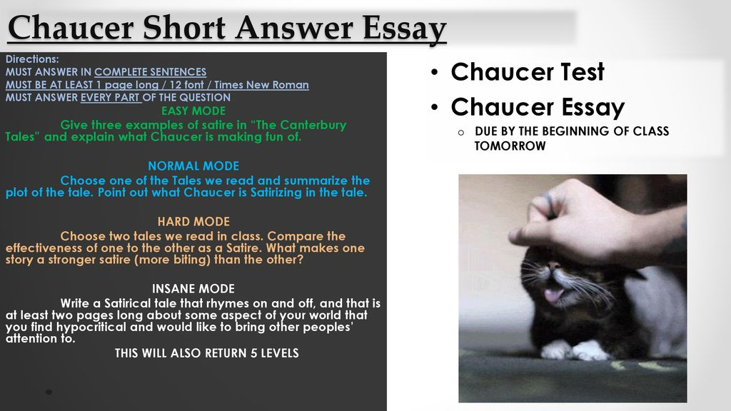 Chaucer Short Answer Essay  Ppt Download Chaucer Short Answer Essay