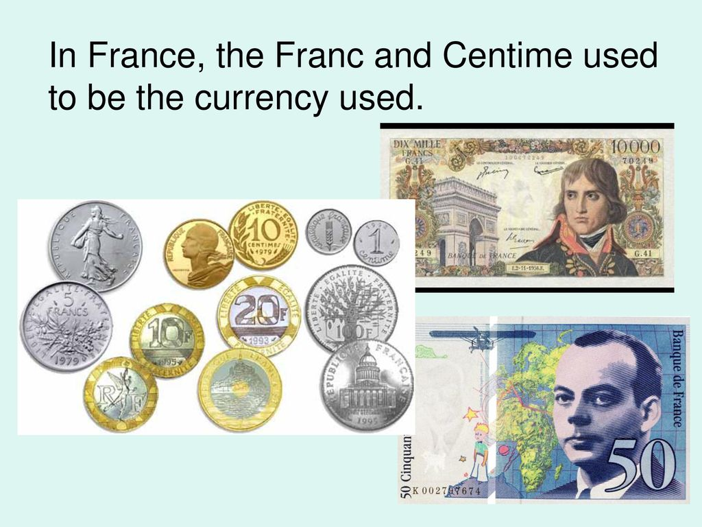 French Currency Ppt
