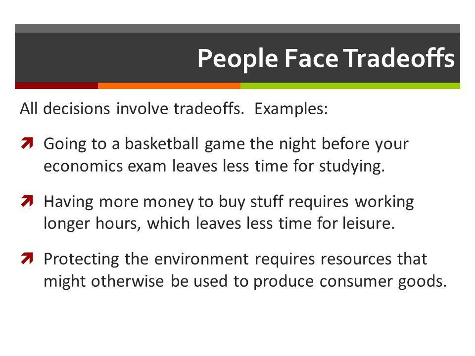 Economic trade-offs | economics help.