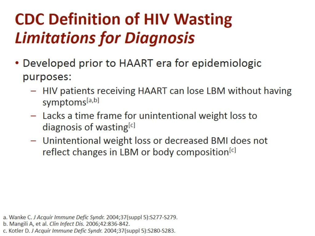 hiv-associated weight loss and wasting - ppt download