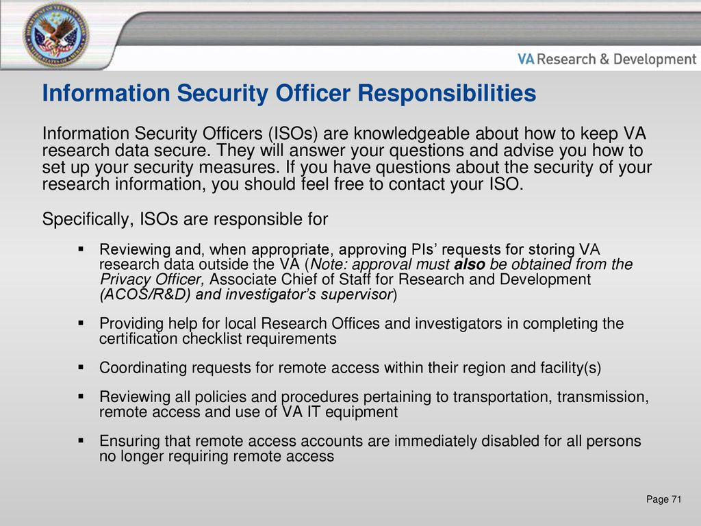 VA Research Data Security and Privacy - ppt download