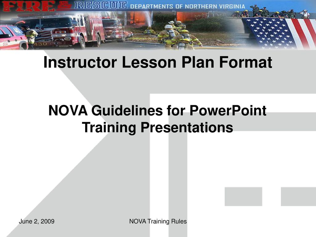 instructor lesson plan format ppt download