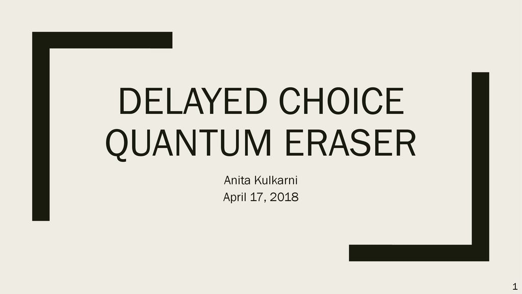 Delayed Choice Quantum Eraser