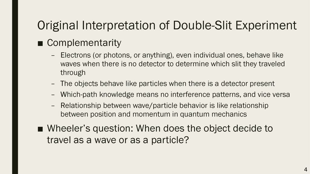 Original Interpretation of Double-Slit Experiment