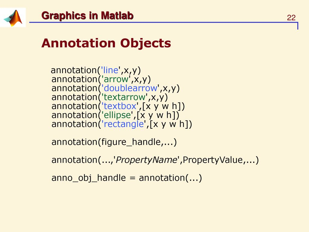 Today's Lecture Matlab Graphics - ppt download