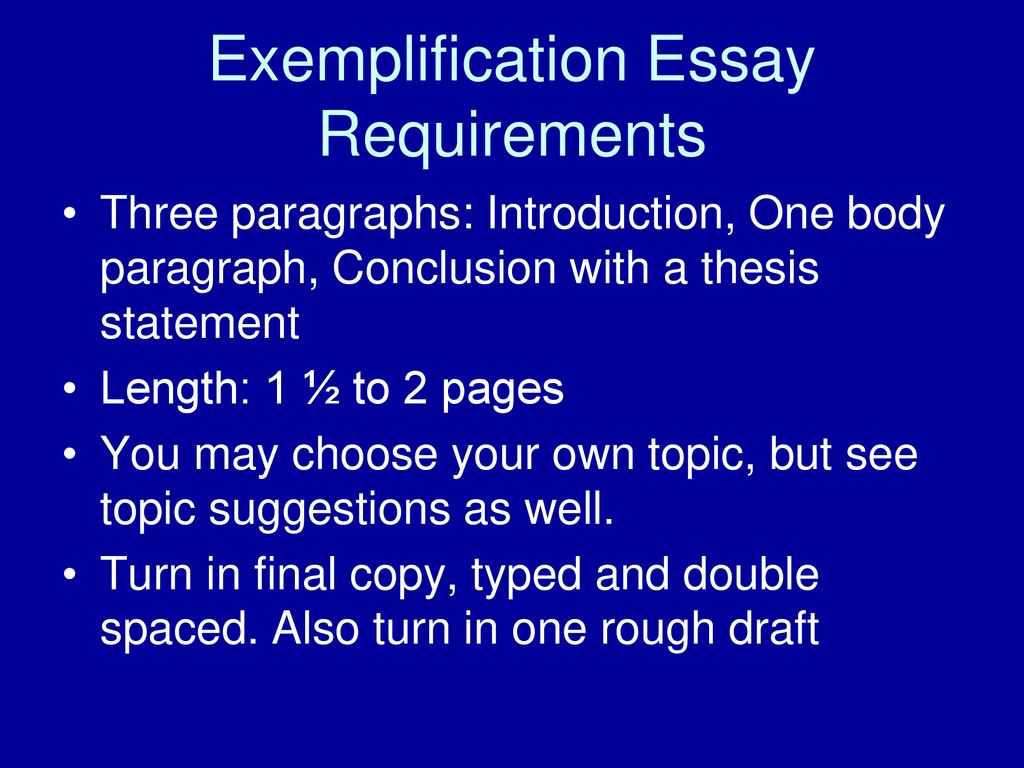 exemplification essay  ppt download  exemplification essay requirements