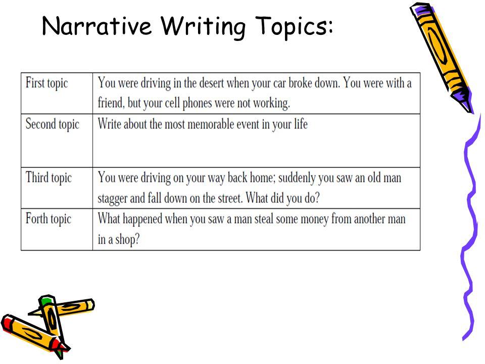narrative writing topics