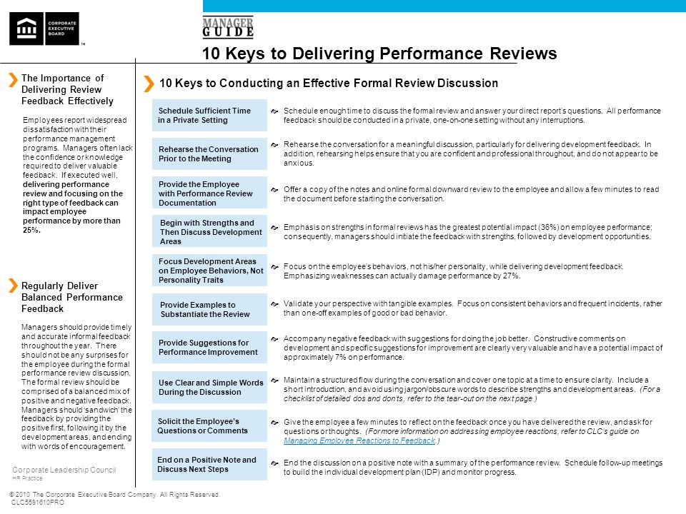 10 Keys to Delivering Performance Reviews - ppt download