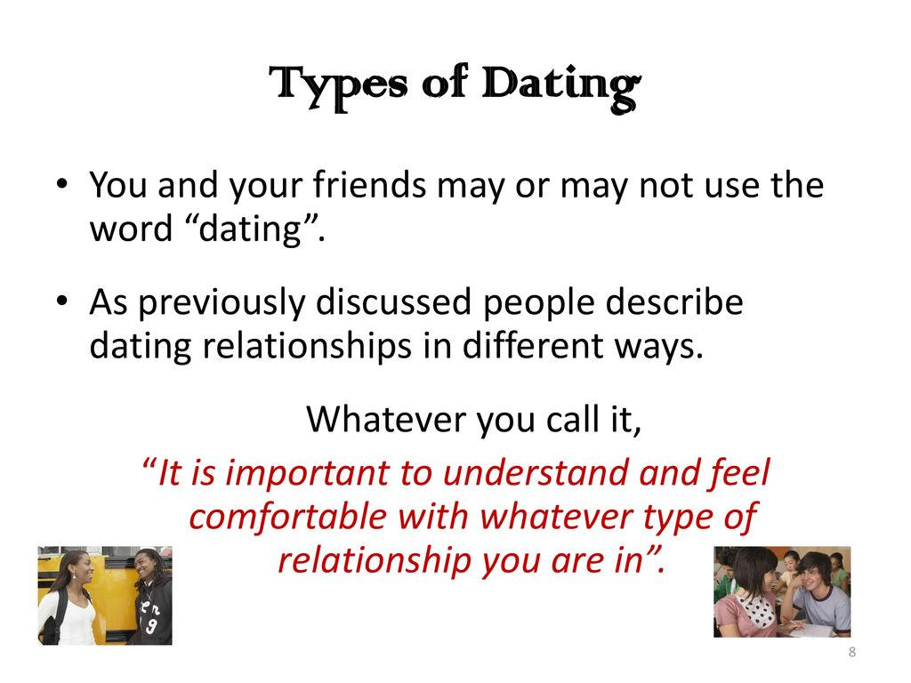 word for dating but not dating