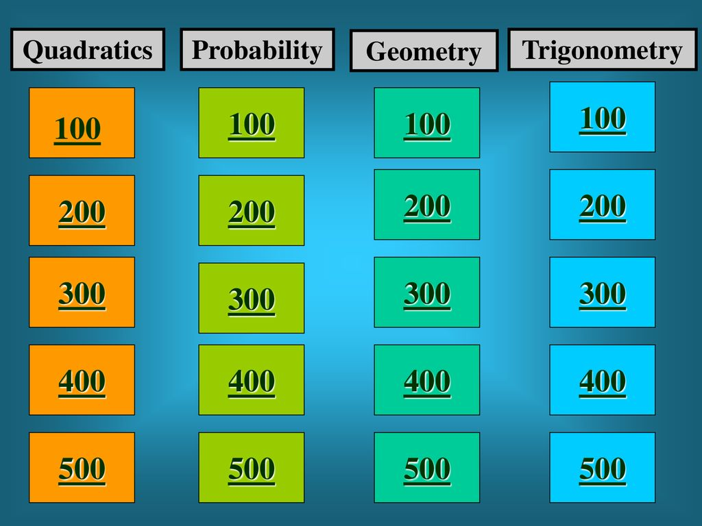 Final Exam Review Jeopardy By Mrs  Alligood Math ppt download