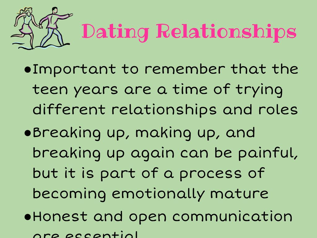 why teen dating is important