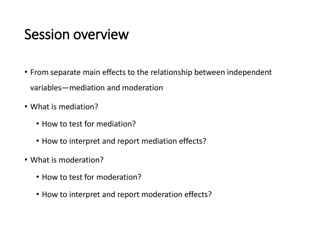 Building Models: Mediation and Moderation Analysis - ppt