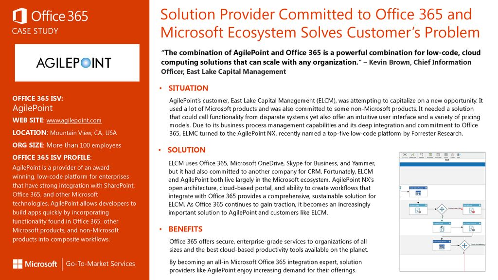 Solution Provider Committed to Office 365 and Microsoft