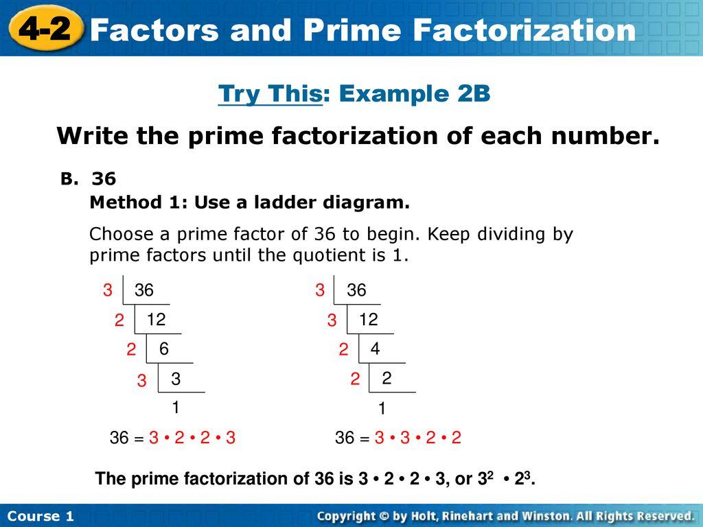 Factors And Prime Factorization Ppt Download