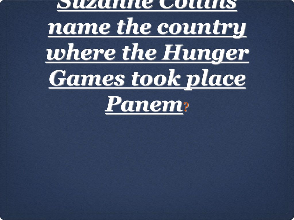 where did the hunger games take place