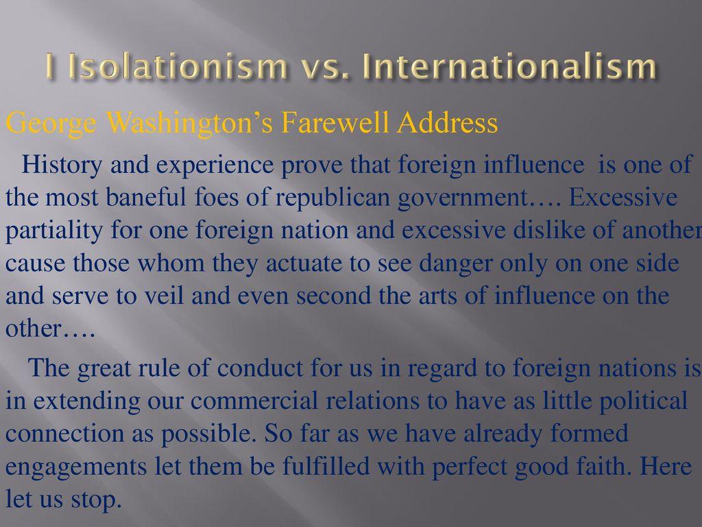 isolationism vs internationalism