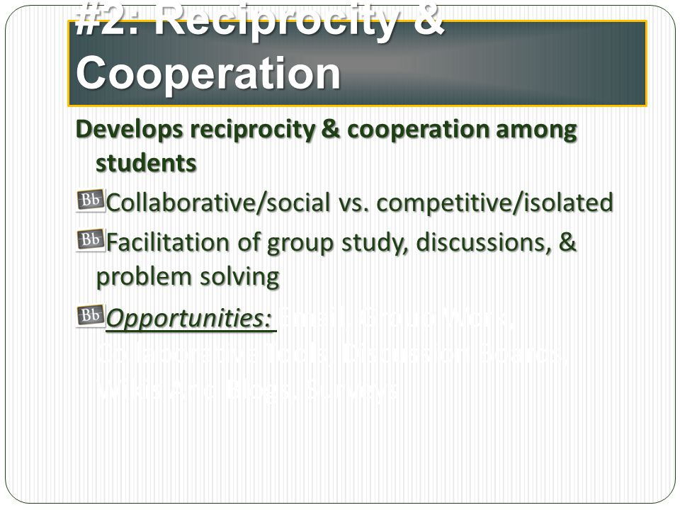 #2: Reciprocity & Cooperation