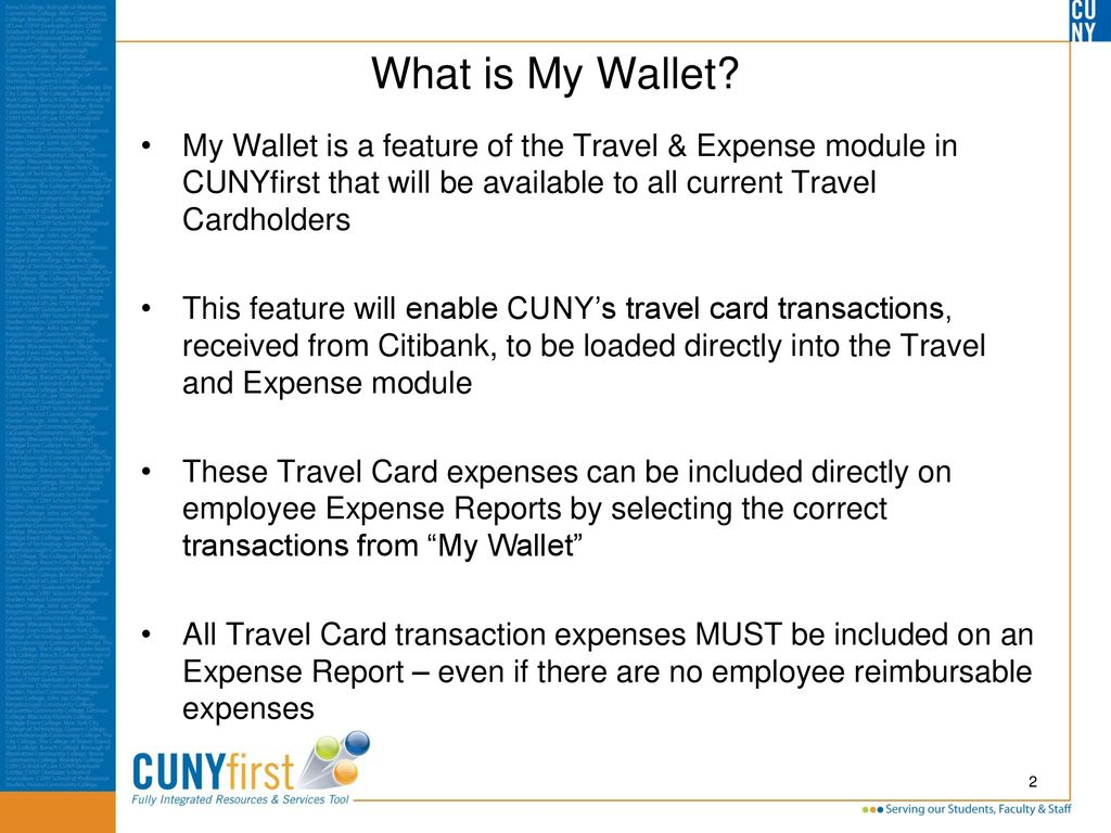 My Wallet Functionality and Considerations - ppt download