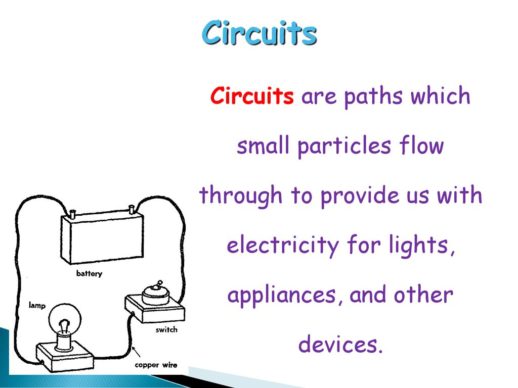 Electrical Circuits Ppt Download Circuit Is Path That Allows Electricity To Flow Through 2 Are Paths Which Small Particles Provide Us With For Lights Appliances And Other Devices