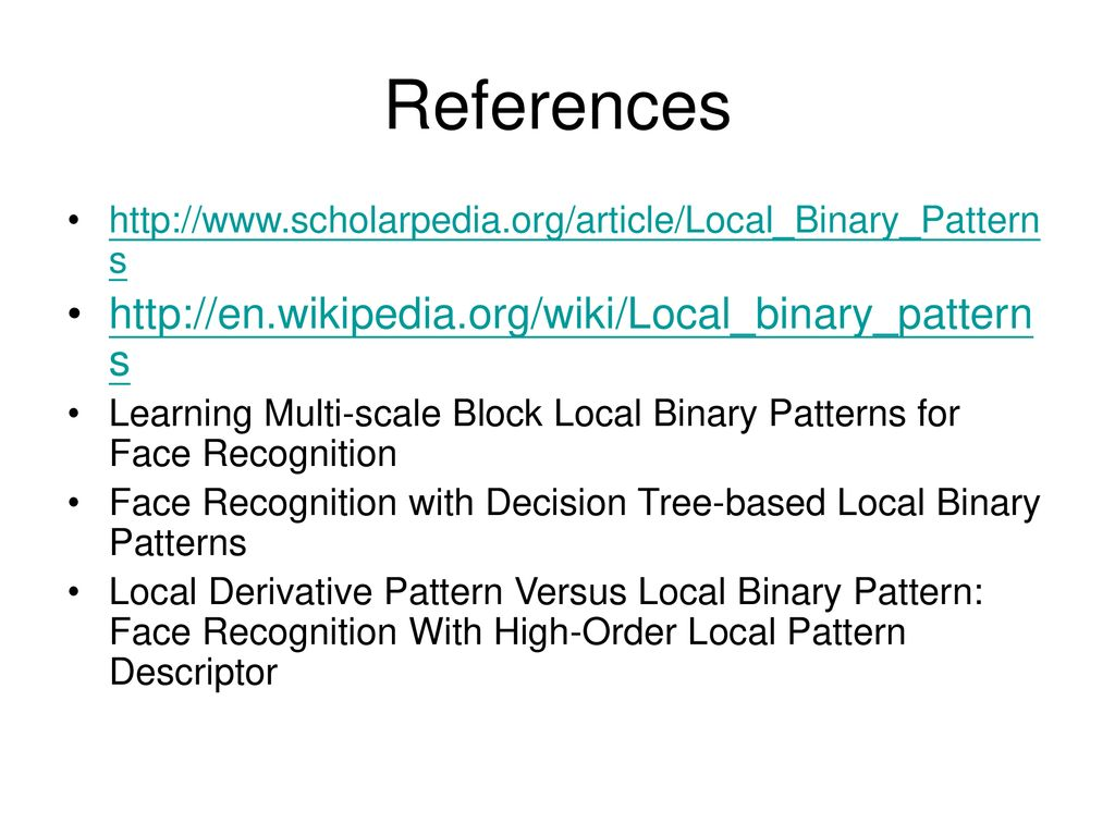 Local Binary Patterns (LBP) - ppt download