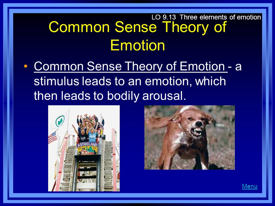 Common Sense Theory of Emotion