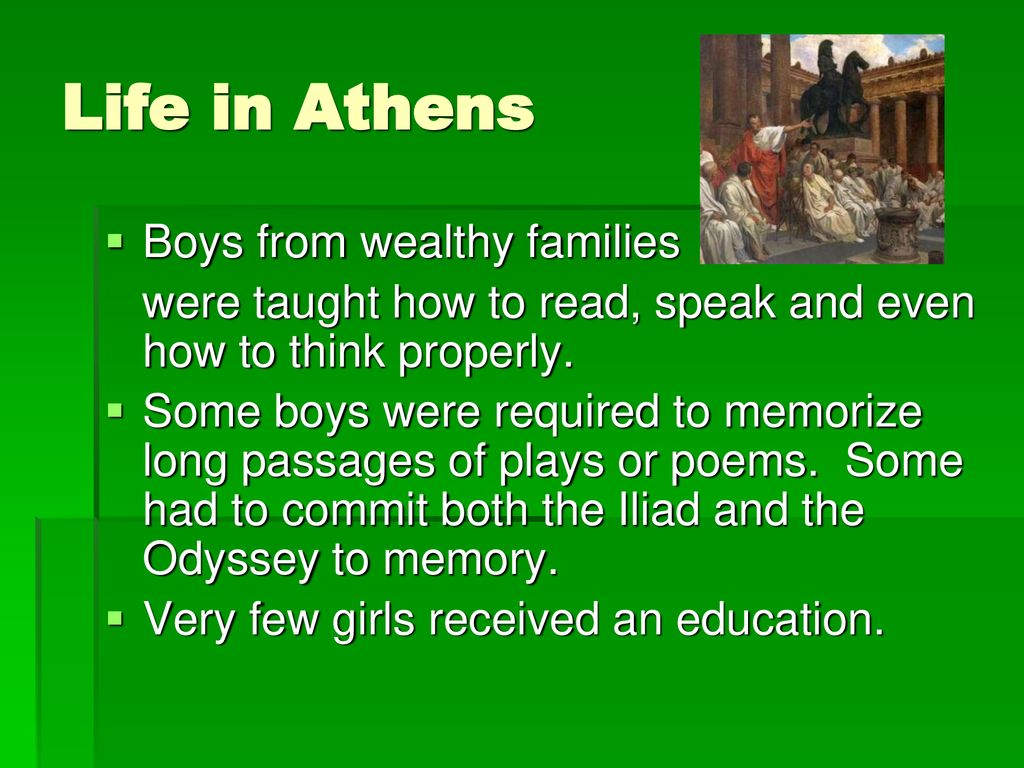 Life in Athens Boys from wealthy families