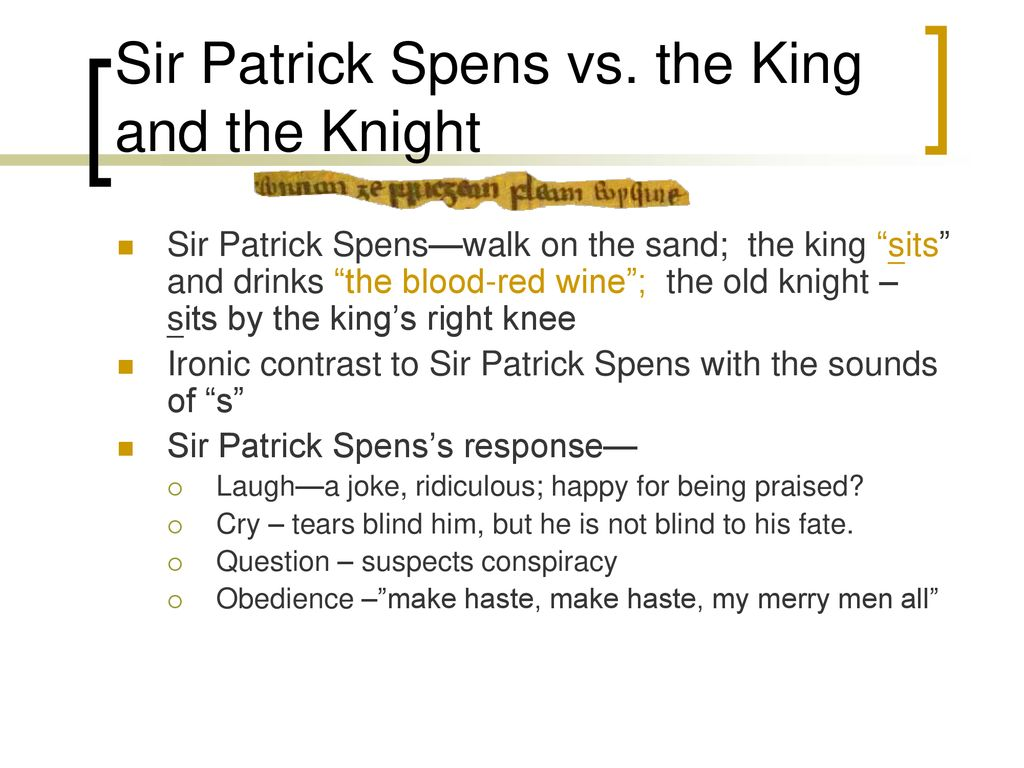 sir patrick spens theme