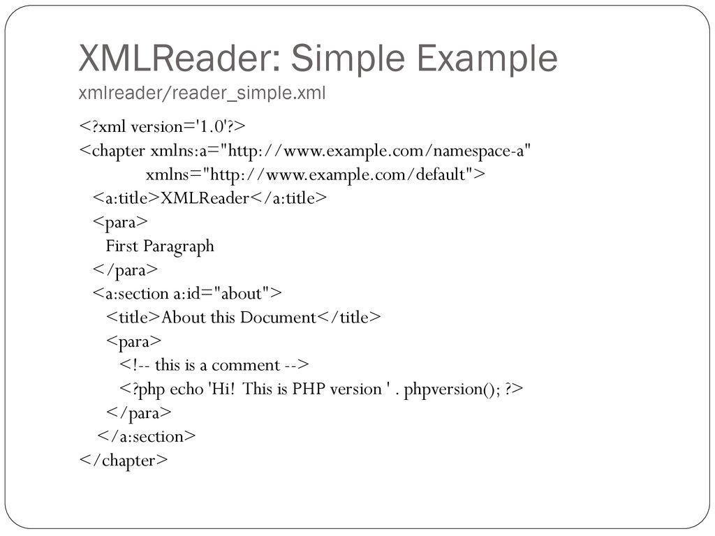 XML Parsing In PHP