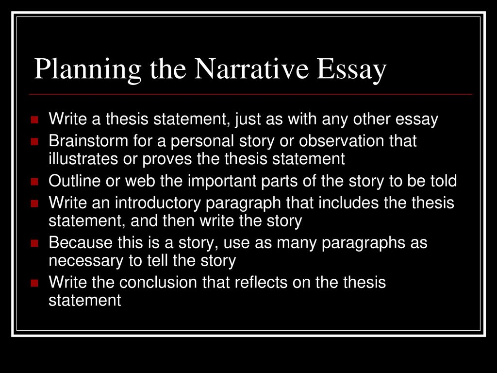 what should the concluding paragraph of a narrative essay include