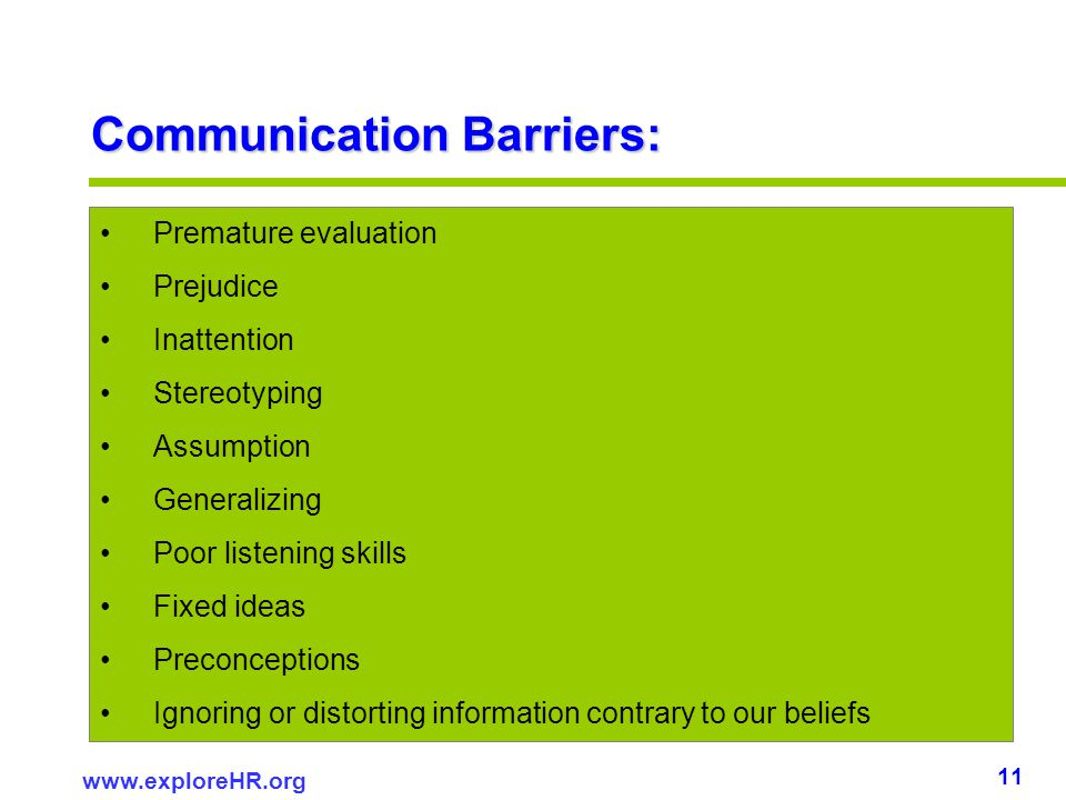 poor communication skills in evaluation