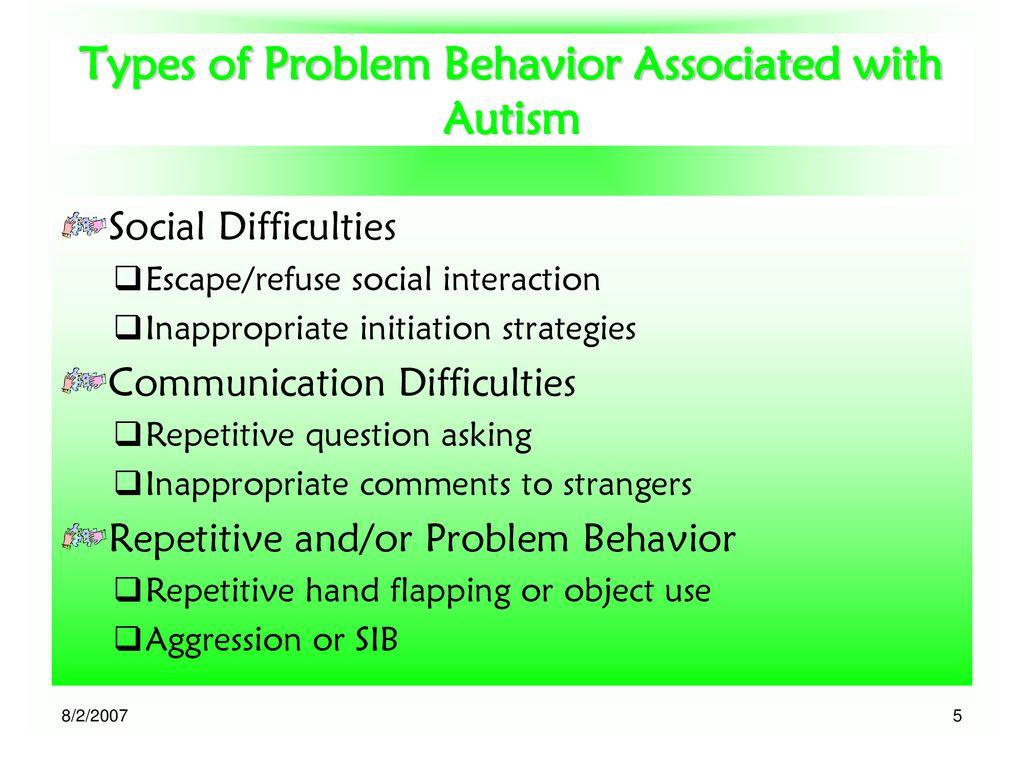 Managing the Behavior of Children with Autism in Inclusive