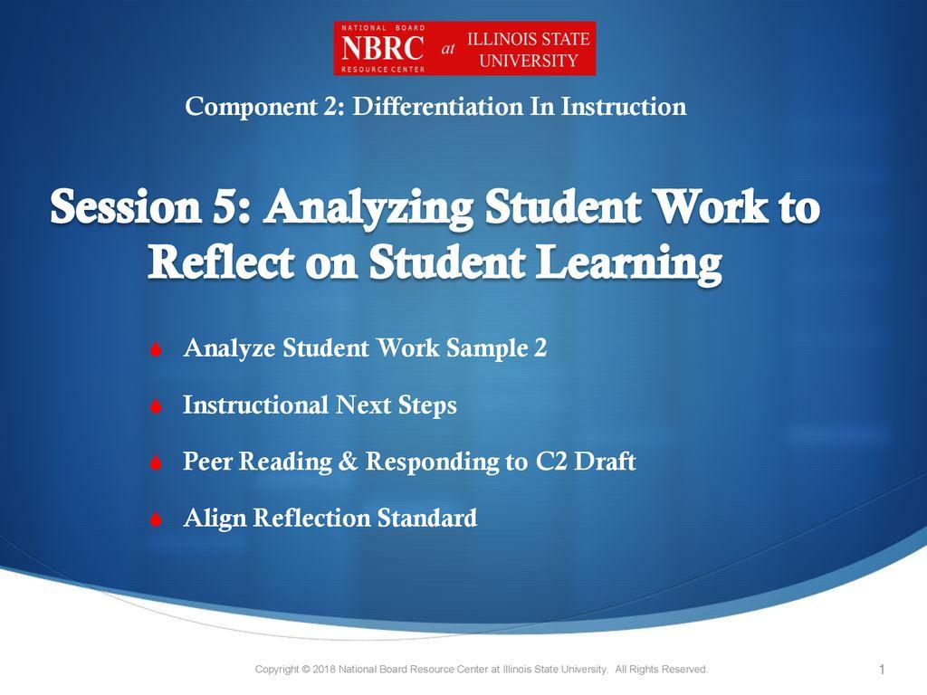 Analyzing student work sample 2 instructional next steps ppt.