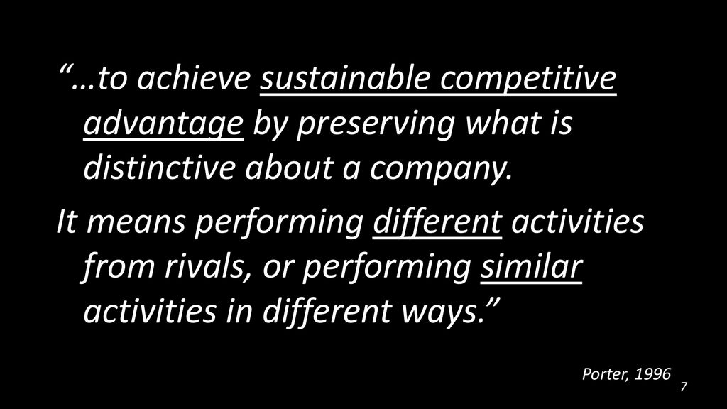 when can a company achieve sustainable competitive advantage