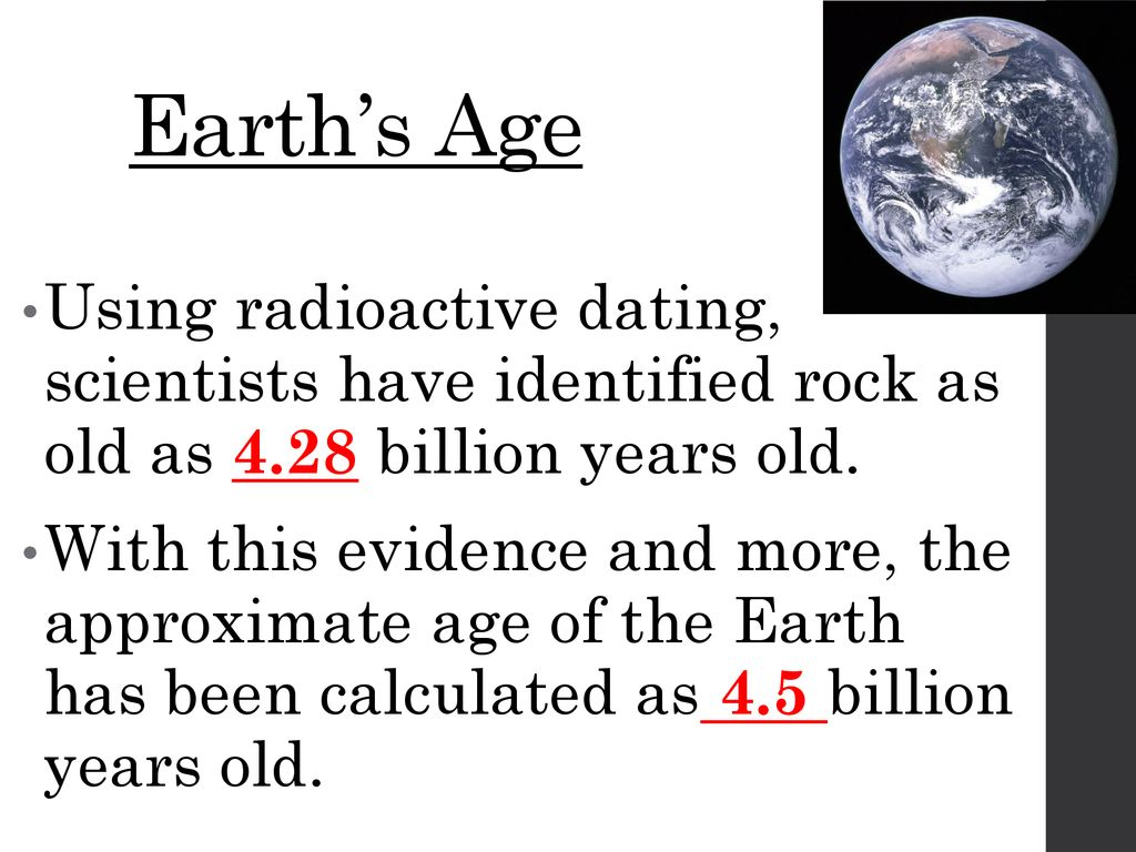 Dating the earths age