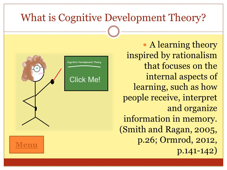 cognative development therories of locke and The knowledge gained from the social learning theory, the more knowledgeable other, the zone of proximal development, scaffolding and contingent teaching methods, enables me to design and implement activities correctly, in regards to optimal cognitive development situations, so as to better promote the learning dynamics occurring within my.