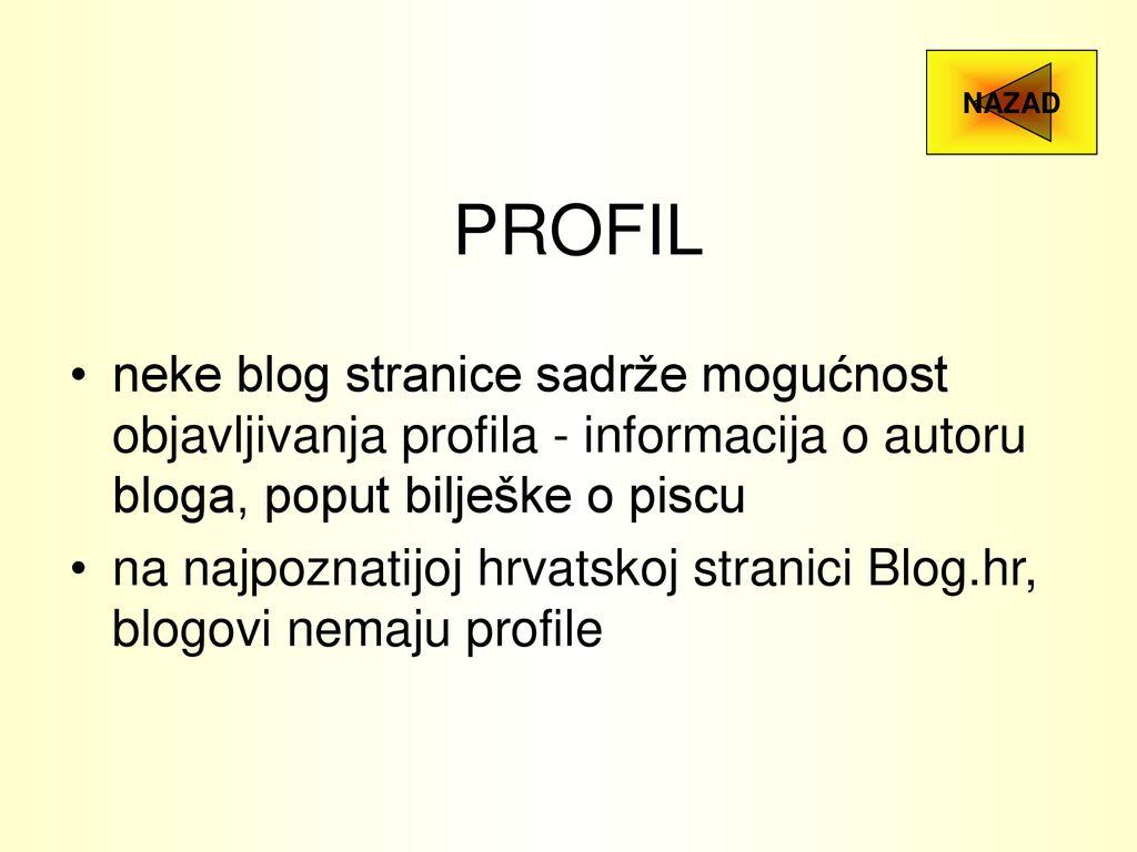 pisci profila za pronalaženje stranica upoznavanje elitnih partnera