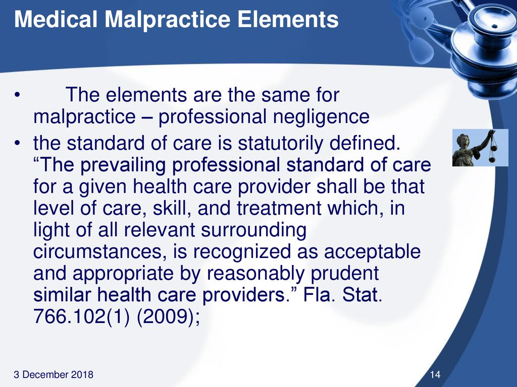 impact of the legal system on medical malpractice in florida - ppt