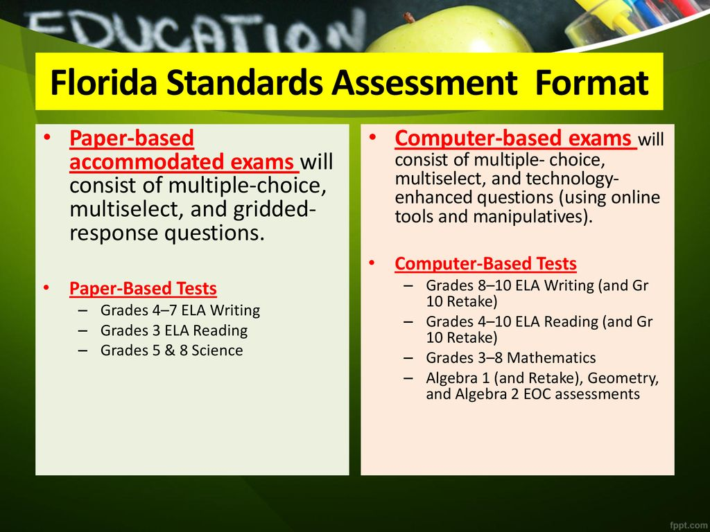 The Florida Standards: What Every Parent Should Know - ppt