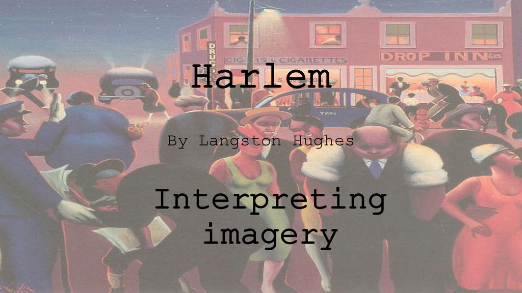 imagery in harlem by langston hughes