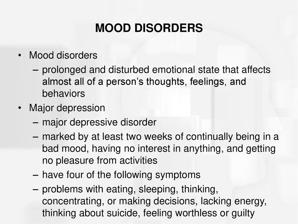 mood disorders & schizophrenia - ppt download