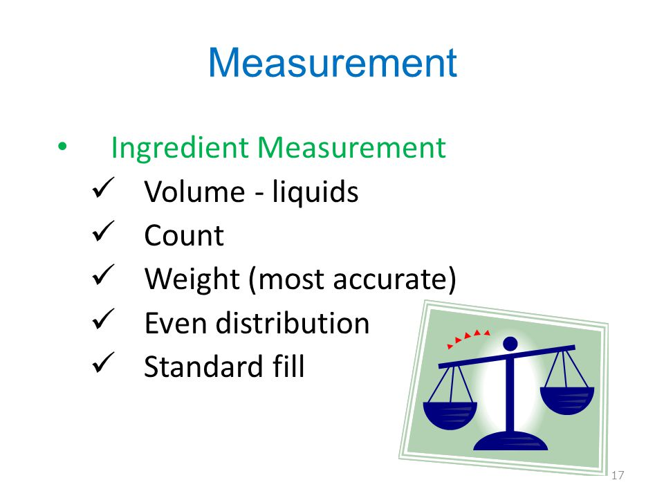 Measurement Ingredient Measurement Volume - liquids Count