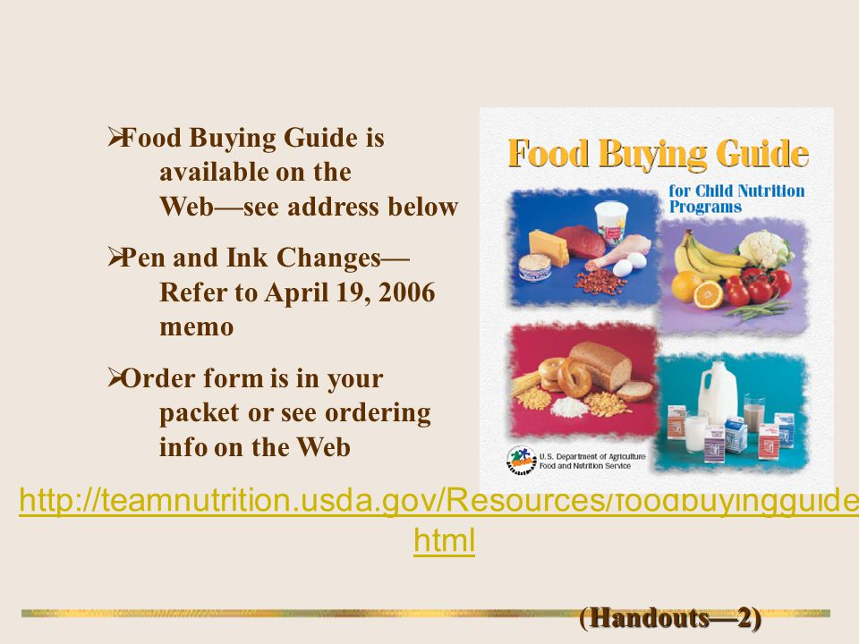 Food Buying Guide is available on the Web—see address below