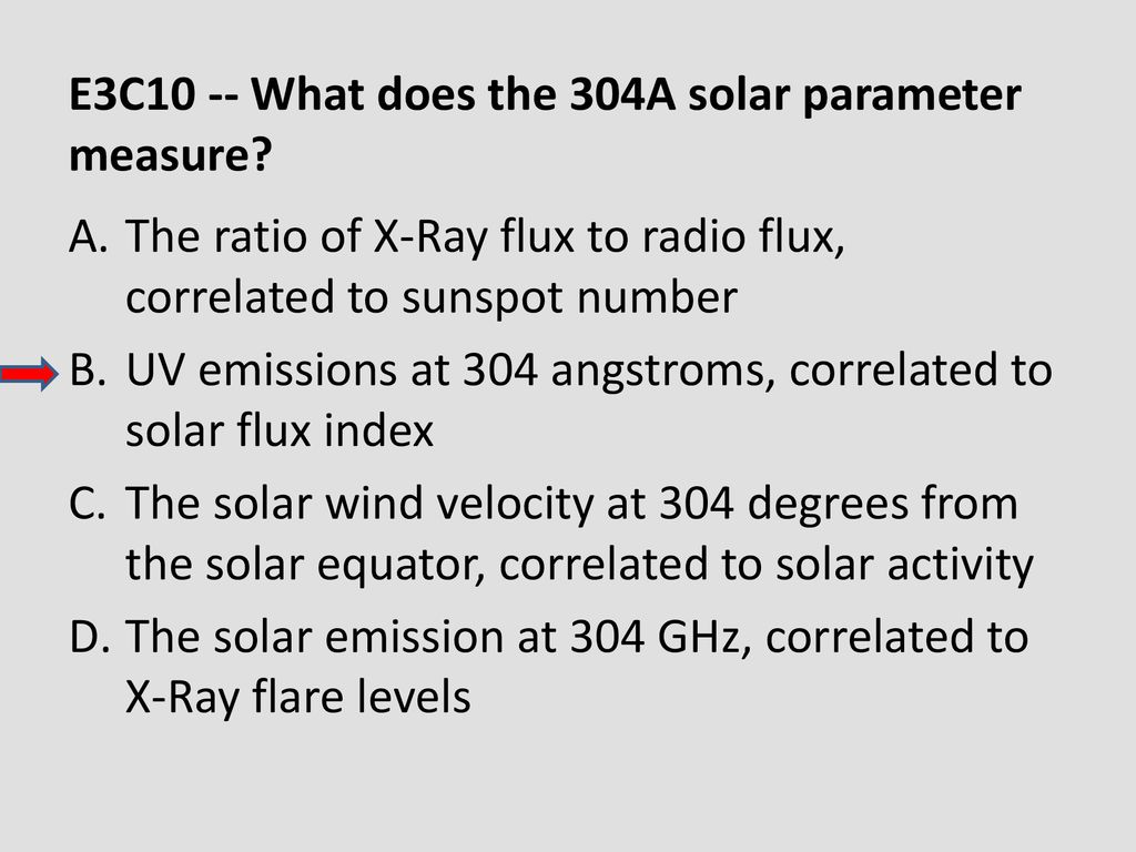 E3C10 -- What does the 304A solar parameter measure
