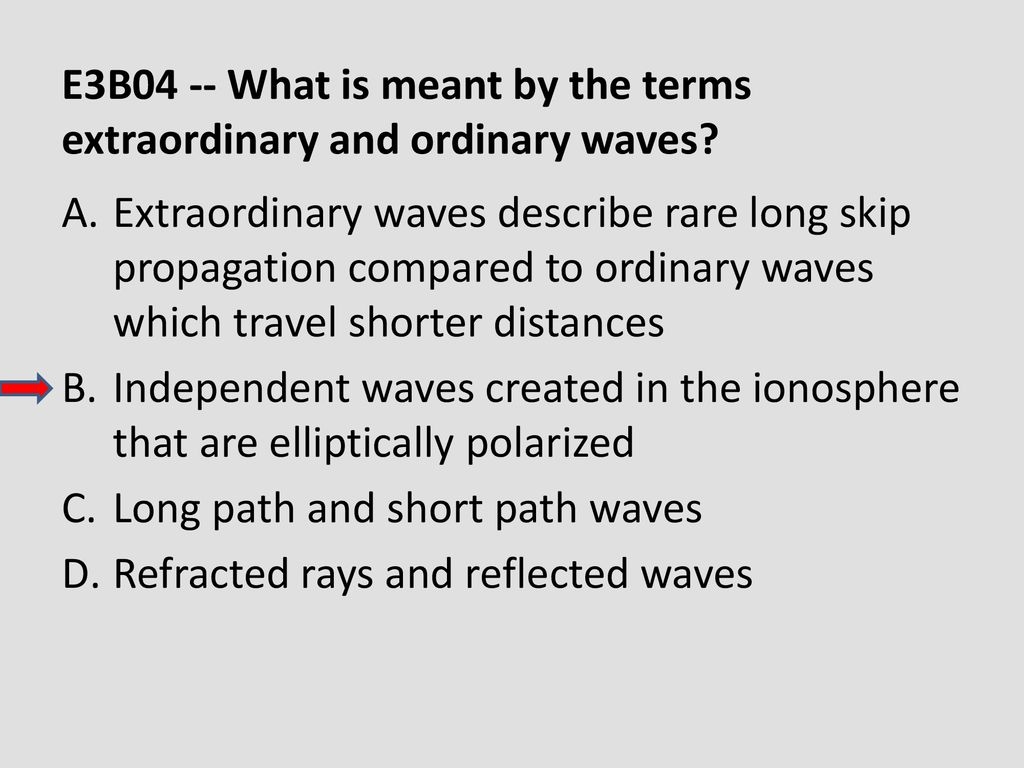 E3B04 -- What is meant by the terms extraordinary and ordinary waves